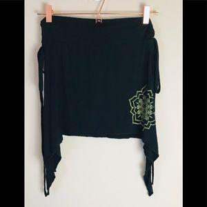 Sacred Geometry Festival Black Skirt Women OS